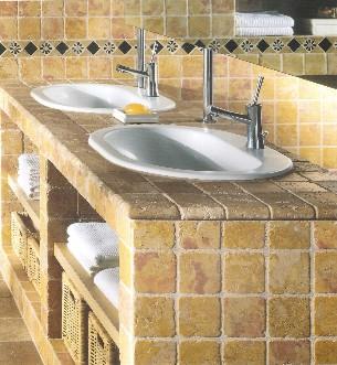 piastrelle in marmo burattato anticato - palladiana marmo - Mattonelle 10x10 Cucina In Muratura