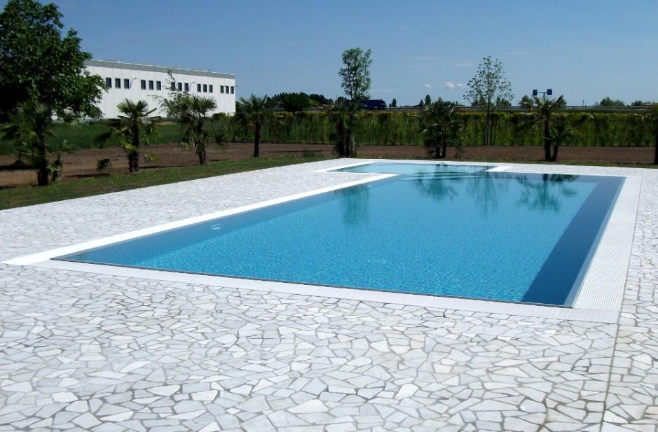 Pavimento piscina in palladiana di marmo 24 palladiana marmo - Piscine di rosa ...