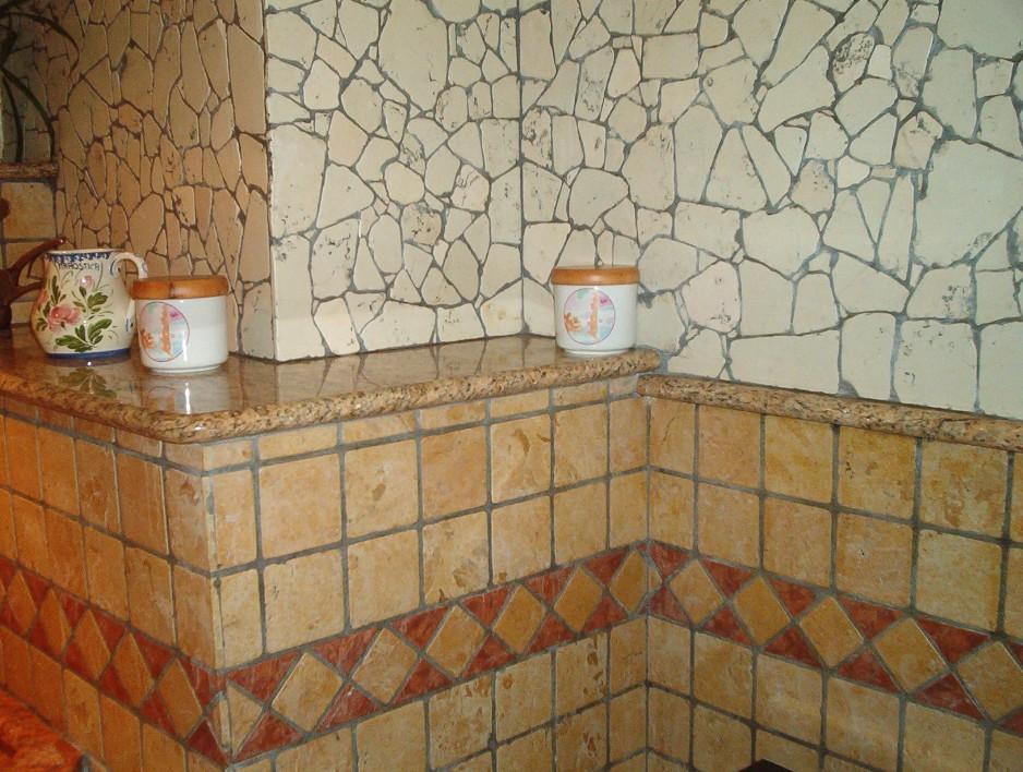 ... In Palladiana Marmo E 10x10 Marmo Burattato - Palladiana Marmo